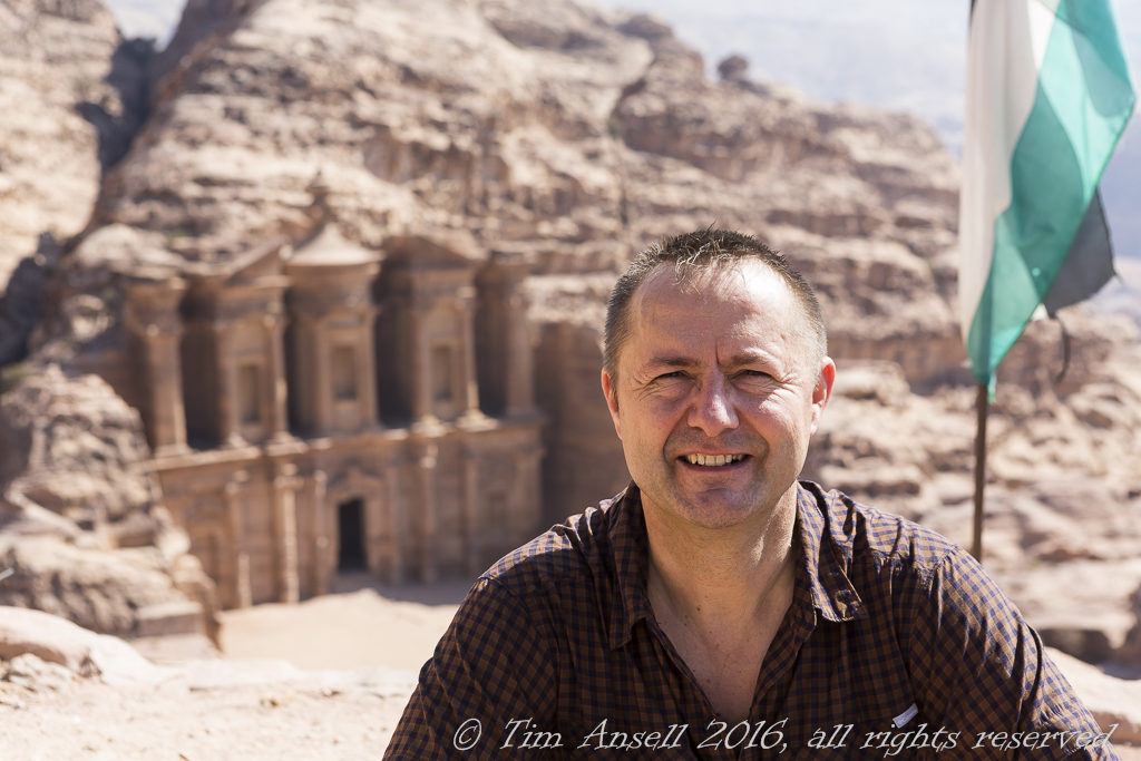 Tim at Petra