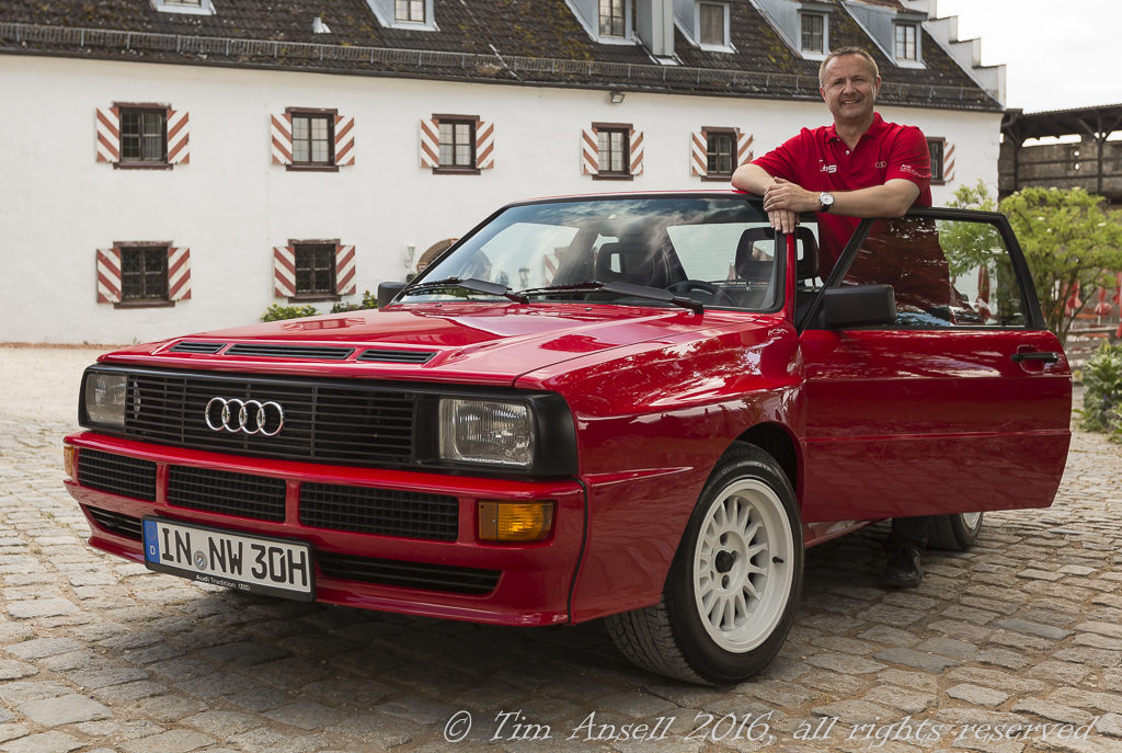 The author drove Audi quattro sport #1 for a day.