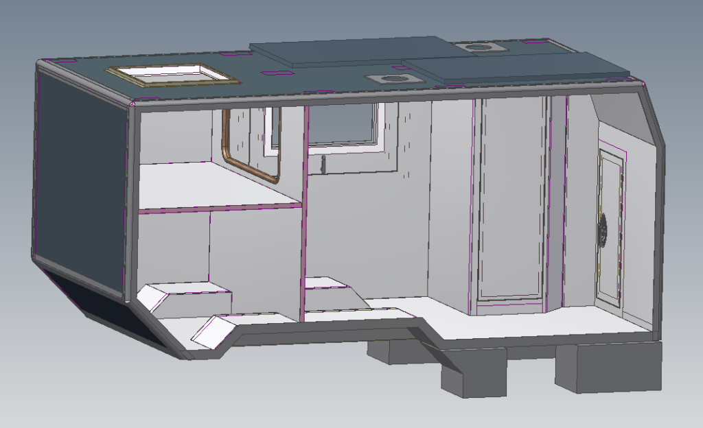 Overview of the cabin design