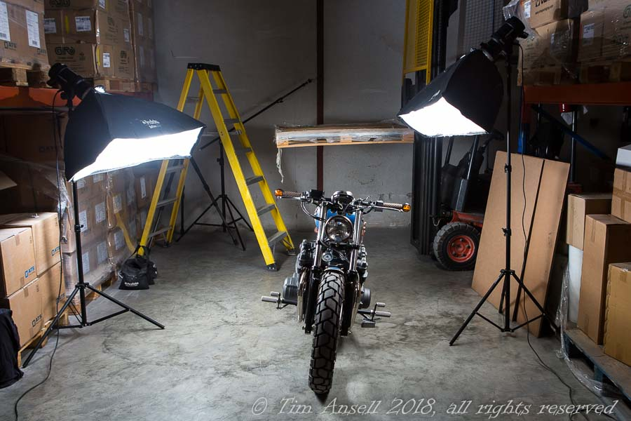 Photo-shoot set-up