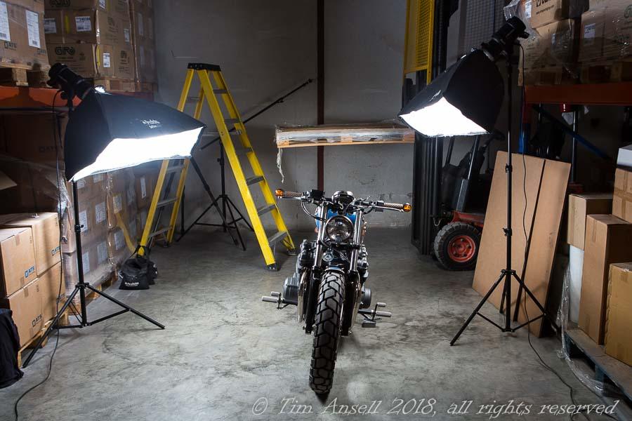 Photo-shoot set-up