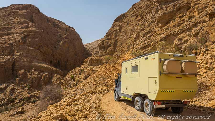 Spectacular Omani wadi driving